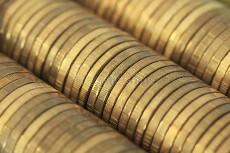 χρυσά χρήματα μερών στοκ εικόνα