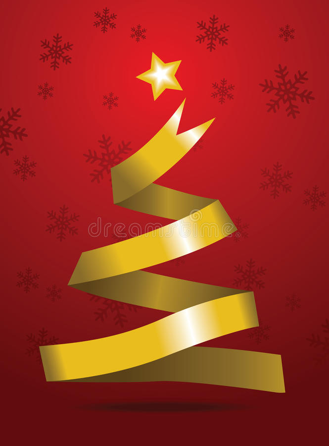 χρυσά Χριστούγεννα κορδελλών στοκ εικόνες