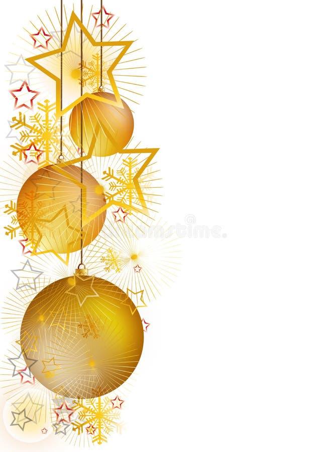 Χρυσά Χριστούγεννα απεικόνιση αποθεμάτων