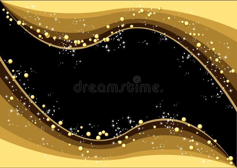χρυσά Χριστούγεννα διανυσματική απεικόνιση