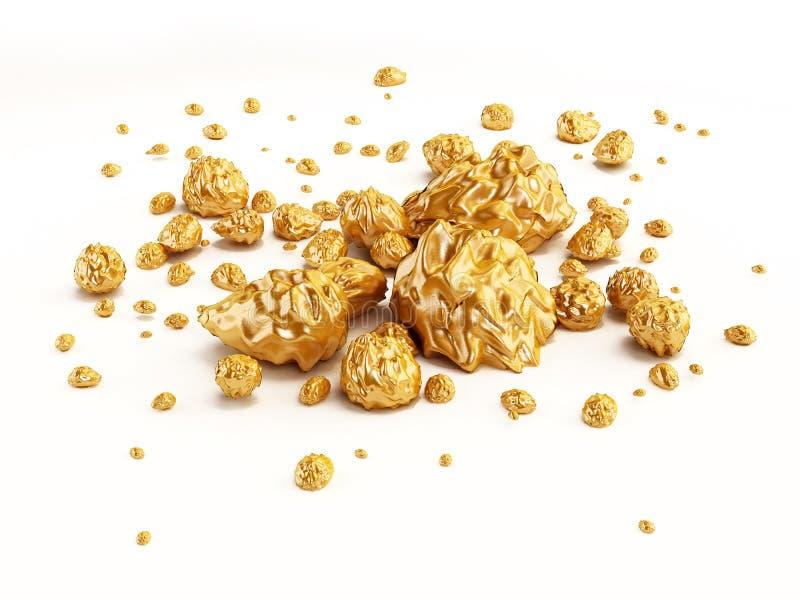 Χρυσά ψήγματα απεικόνιση αποθεμάτων