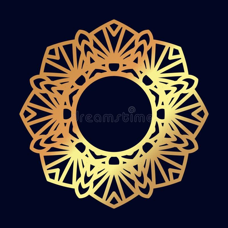 Χρυσά mandalas Ινδική γαμήλια περισυλλογή διανυσματική απεικόνιση