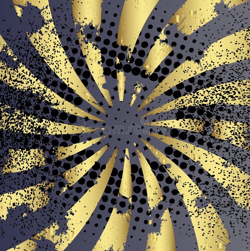 χρυσές ακτίνες ανασκόπησης απεικόνιση αποθεμάτων