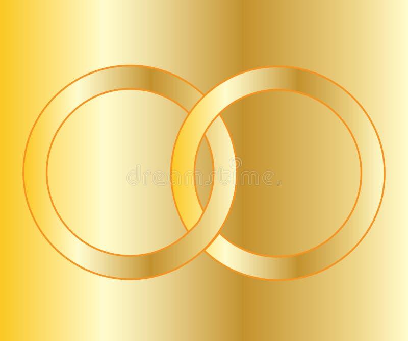 Χρυσές γαμήλιες ζώνες ελεύθερη απεικόνιση δικαιώματος