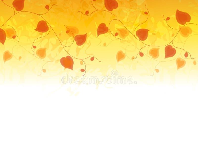 χρυσές καρδιές λουλουδιών συνόρων διανυσματική απεικόνιση