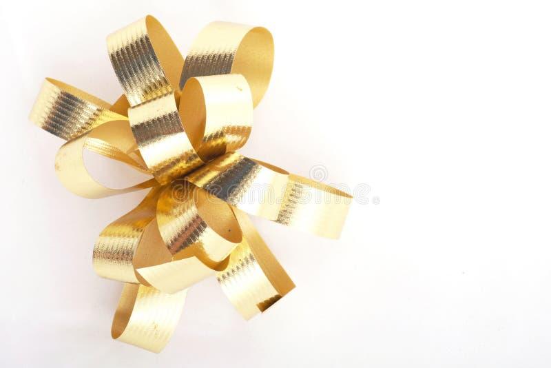 χρυσές κορδέλλες στοκ εικόνες με δικαίωμα ελεύθερης χρήσης