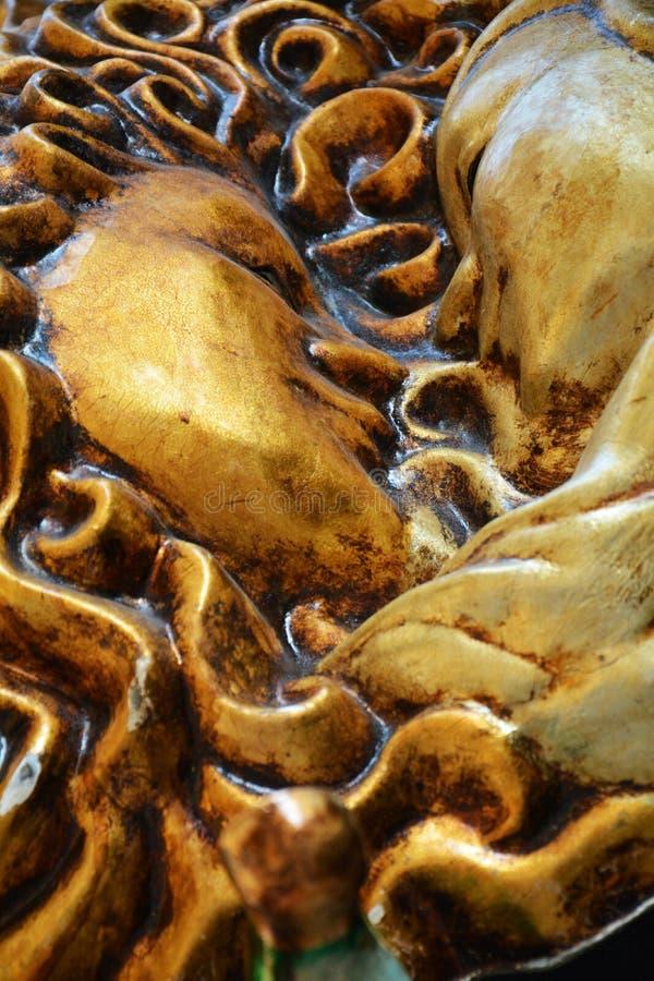 χρυσές μάσκες Βενετός στοκ φωτογραφία με δικαίωμα ελεύθερης χρήσης
