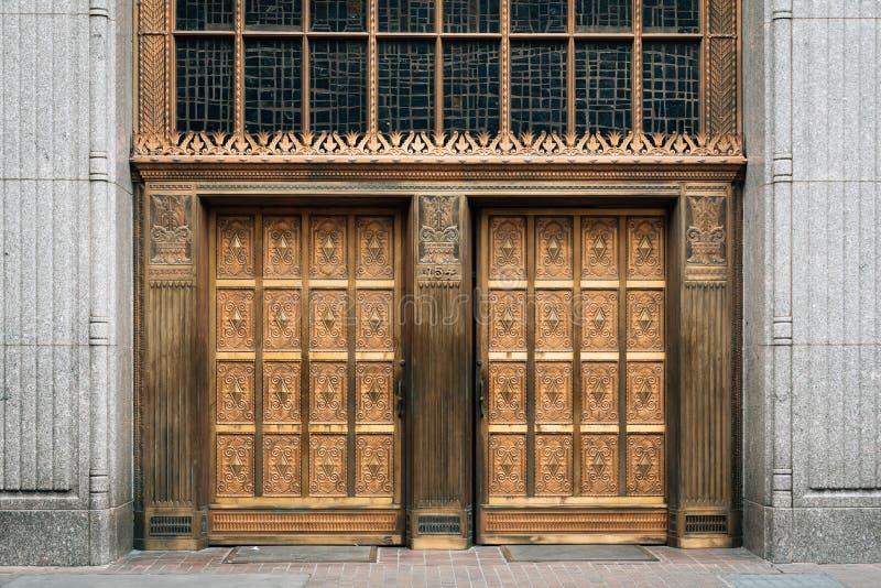 Χρυσές πόρτες στο San Antonio, Τέξας στοκ φωτογραφία