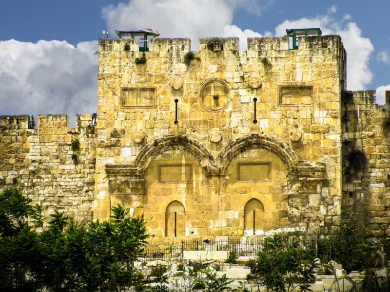 Χρυσές πύλες της Ιερουσαλήμ στοκ φωτογραφίες με δικαίωμα ελεύθερης χρήσης