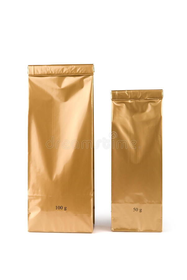 Χρυσές τσάντες στοκ εικόνες με δικαίωμα ελεύθερης χρήσης