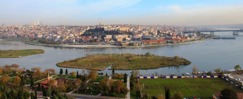 Χρυσή άποψη Halic κέρατων της Ιστανμπούλ στοκ φωτογραφίες