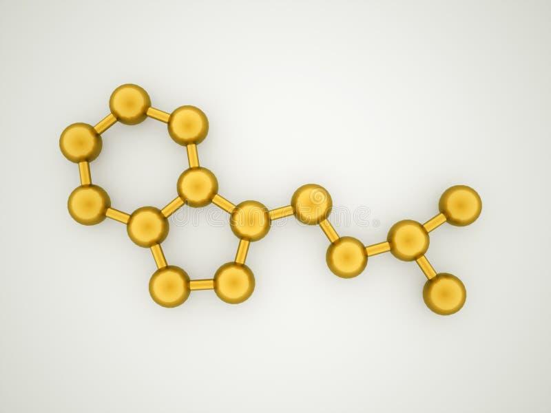 Χρυσή έννοια μορίων απεικόνιση αποθεμάτων