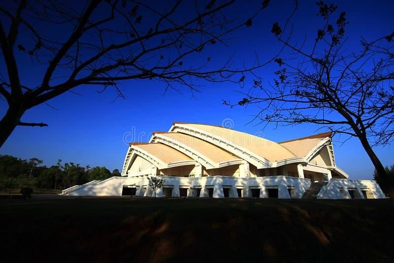Χρυσή αίθουσα Συνθηκών ιωβηλαίου, πανεπιστήμιο Khon Kaen στοκ φωτογραφίες με δικαίωμα ελεύθερης χρήσης