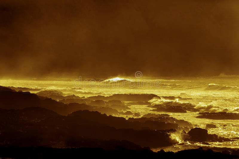 Χρυσή ακτή στο νησί Πάσχας στοκ φωτογραφία με δικαίωμα ελεύθερης χρήσης