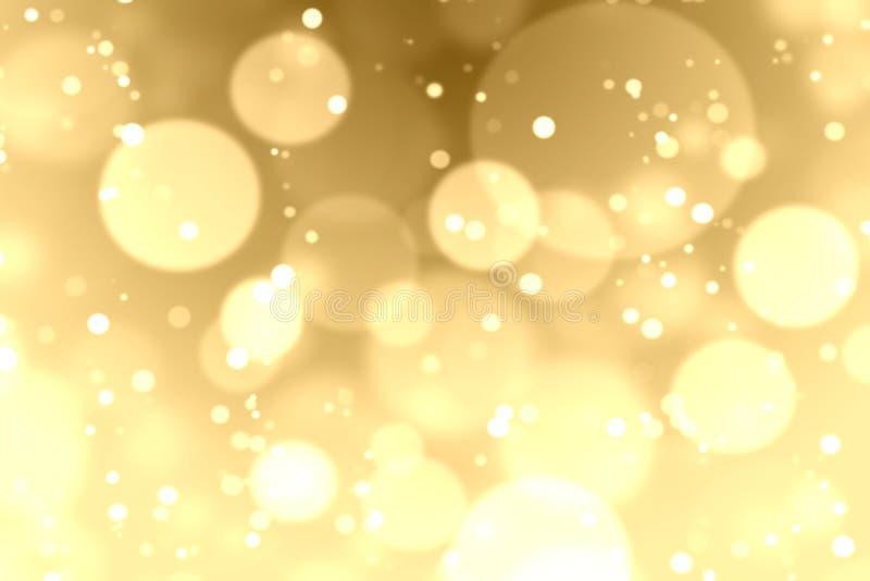 Χρυσή ανασκόπηση bokeh απεικόνιση αποθεμάτων