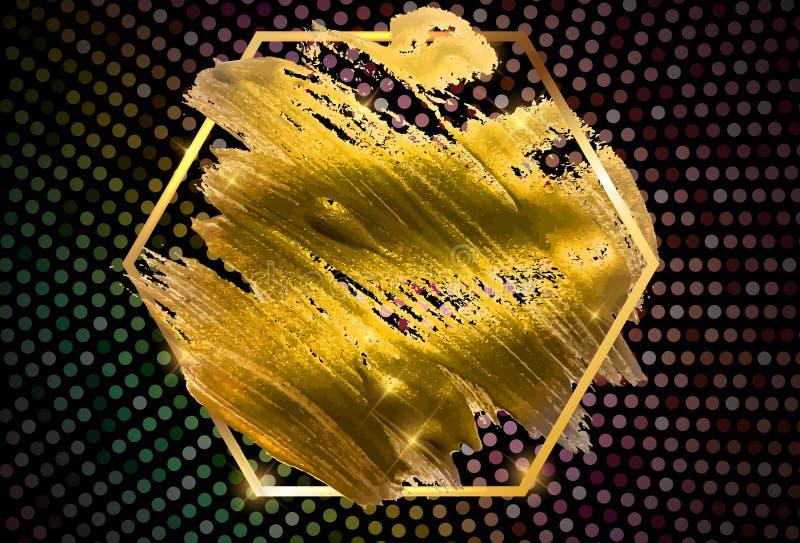 Χρυσή απεικόνιση τέχνης χρωμάτων ακτινοβολώντας κατασκευασμένη r απεικόνιση αποθεμάτων
