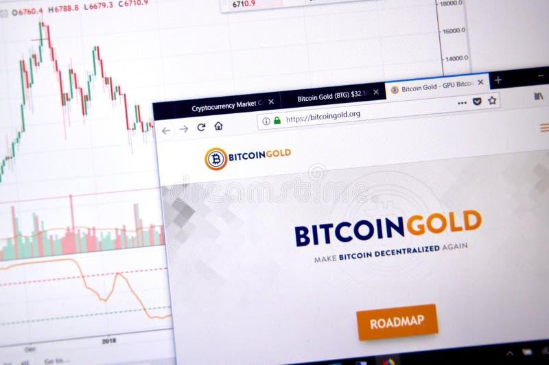 Χρυσή αρχική σελίδα Bitcoin στοκ φωτογραφίες