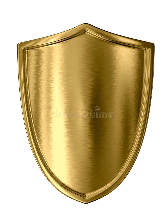 χρυσή ασπίδα διανυσματική απεικόνιση