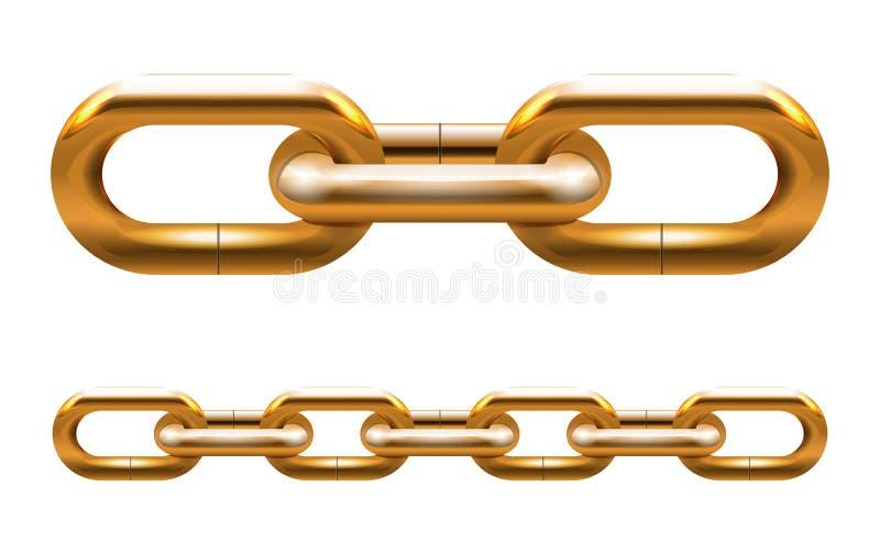 Χρυσή αλυσίδα απεικόνιση αποθεμάτων