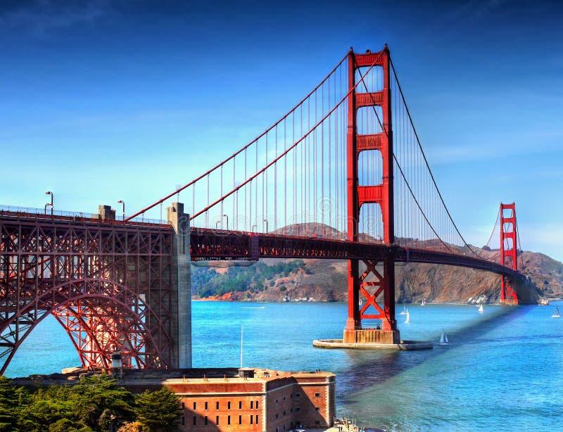 Χρυσή γέφυρα Σαν Φρανσίσκο, Καλιφόρνια πυλών στοκ εικόνες