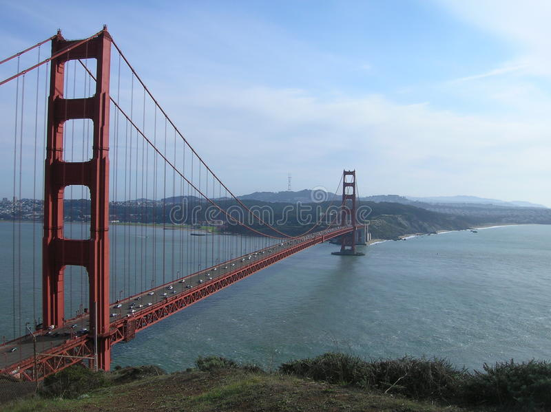 Χρυσή γέφυρα SF πυλών στοκ εικόνες