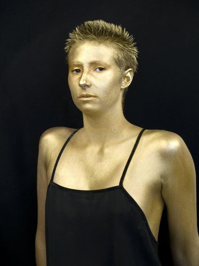 χρυσή γυναίκα στοκ εικόνες με δικαίωμα ελεύθερης χρήσης