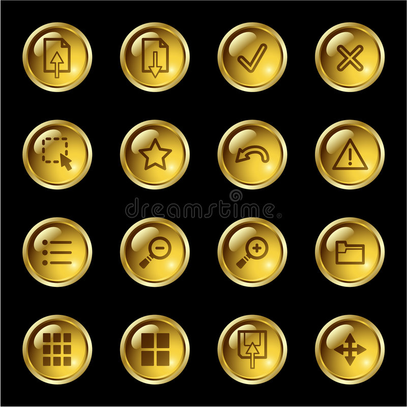 χρυσή εμφάνιση εικόνας ει&k διανυσματική απεικόνιση