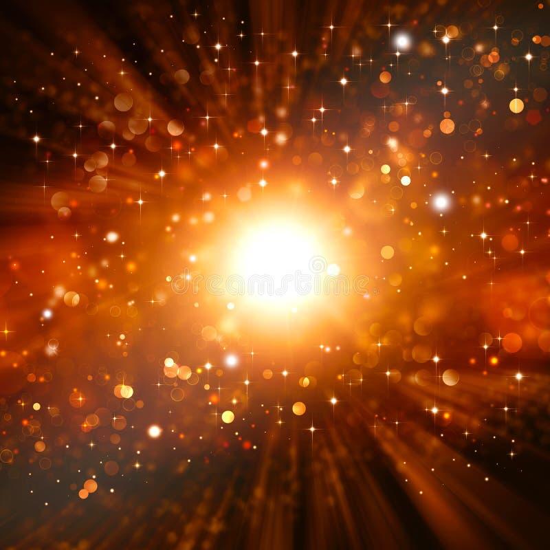 Χρυσή εορταστική φαντασία διανυσματική απεικόνιση