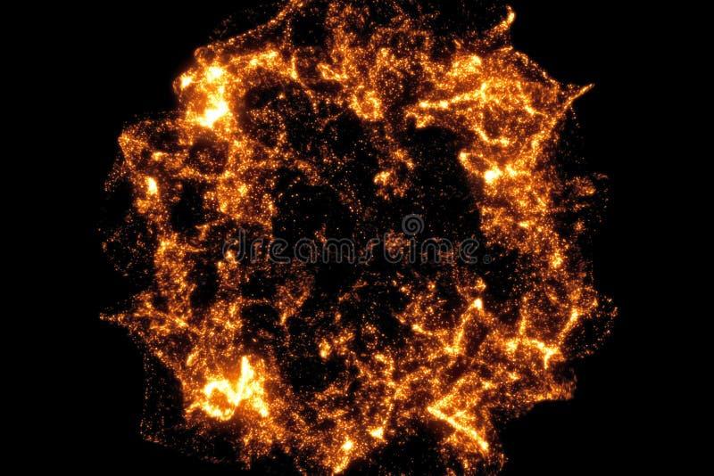 Χρυσή επίδραση έκρηξης σπινθηρίσματος μετάβασης μορίων πυράκτωσης ακτινοβολώντας bokeh στο μαύρο υπόβαθρο, διακοπές καλή χρονιά στοκ φωτογραφία με δικαίωμα ελεύθερης χρήσης