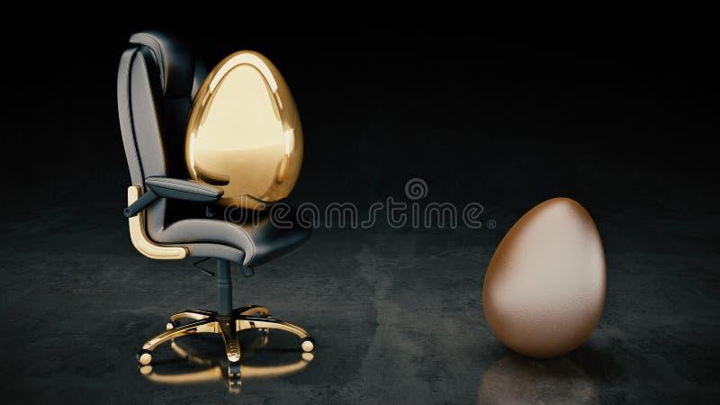 Χρυσή επιχείρηση έννοιας αυγών διανυσματική απεικόνιση