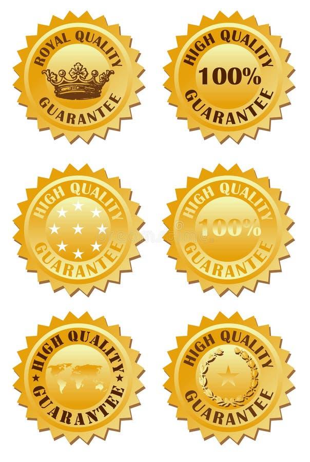 χρυσή ετικέτα διανυσματική απεικόνιση