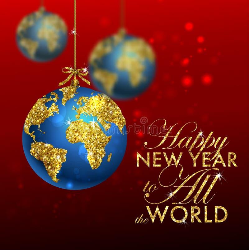 Χρυσή ευχετήρια κάρτα Χριστουγέννων ελεύθερη απεικόνιση δικαιώματος