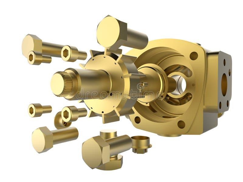 Χρυσή εφαρμοσμένη μηχανική ακρίβειας απεικόνιση αποθεμάτων