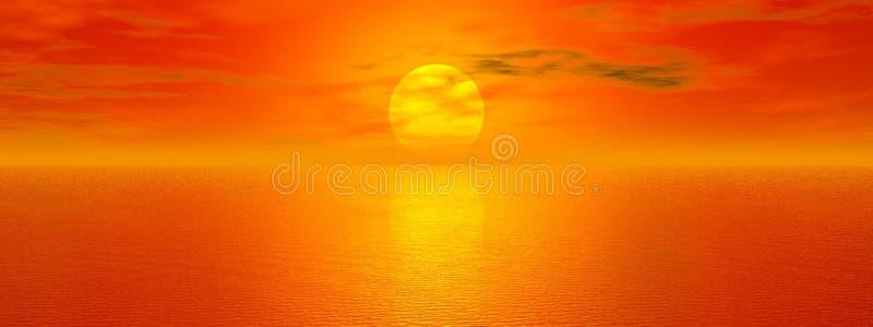 χρυσή θάλασσα απεικόνιση αποθεμάτων