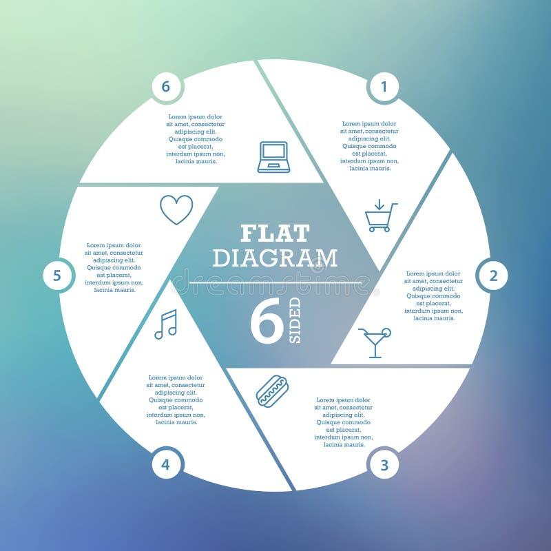 χρυσή ιδιοκτησία βασικών πλήκτρων επιχειρησιακής έννοιας που φθάνει στον ουρανό Γρίφος Infographic κύκλων Πρότυπο για το διάγραμμ διανυσματική απεικόνιση