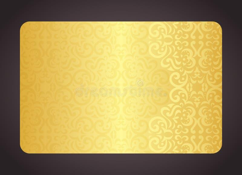Χρυσή κάρτα πολυτέλειας με το εκλεκτής ποιότητας σχέδιο ελεύθερη απεικόνιση δικαιώματος