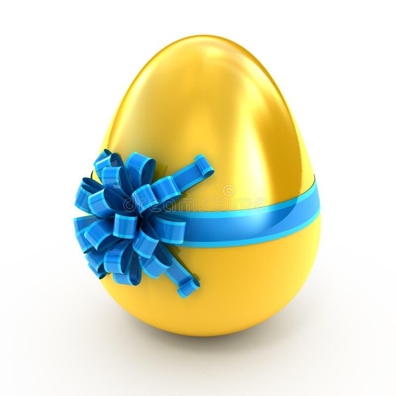 χρυσή κορδέλλα αυγών ελεύθερη απεικόνιση δικαιώματος