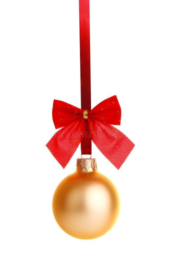 χρυσή κορδέλλα διακοσμή& στοκ φωτογραφία με δικαίωμα ελεύθερης χρήσης