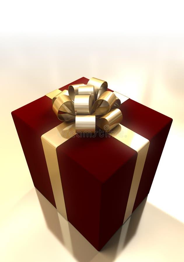 χρυσή κορδέλλα δώρων κιβωτίων διανυσματική απεικόνιση