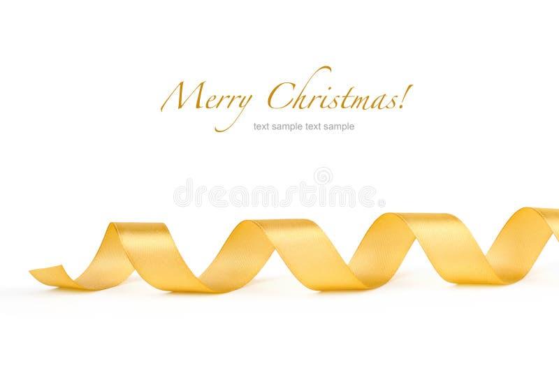 Χρυσή κορδέλλα μεταξιού στοκ φωτογραφία με δικαίωμα ελεύθερης χρήσης