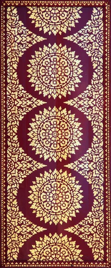 χρυσή κόκκινη ταϊλανδική τ&alph διανυσματική απεικόνιση