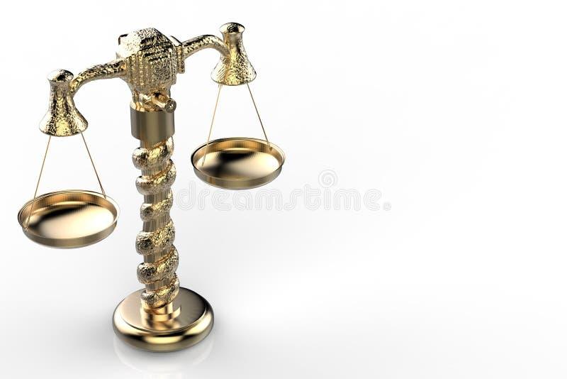 Χρυσή κλίμακα νόμου στοκ φωτογραφία με δικαίωμα ελεύθερης χρήσης