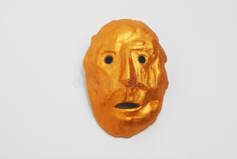 Χρυσή μάσκα στο ύφος των των Αζτέκων Ινδών στοκ φωτογραφίες με δικαίωμα ελεύθερης χρήσης