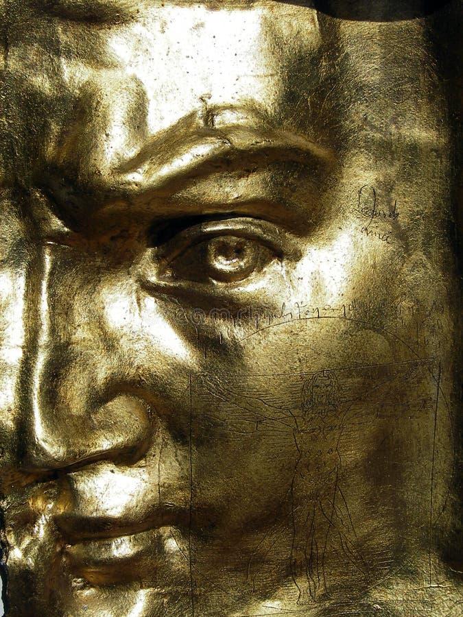 χρυσή μάσκα του Δαβίδ στοκ εικόνα με δικαίωμα ελεύθερης χρήσης