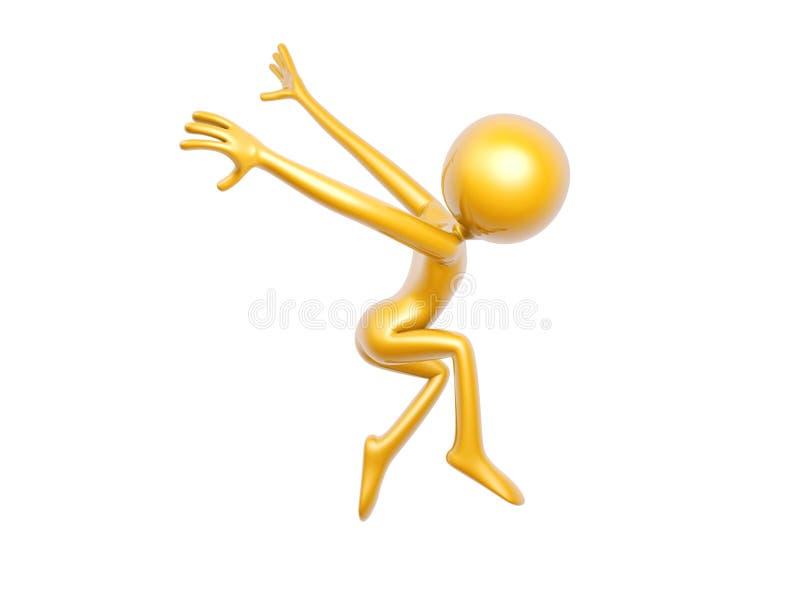 Χρυσή μύγα χορού τύπων που απομονώνεται στο άσπρο υπόβαθρο διανυσματική απεικόνιση