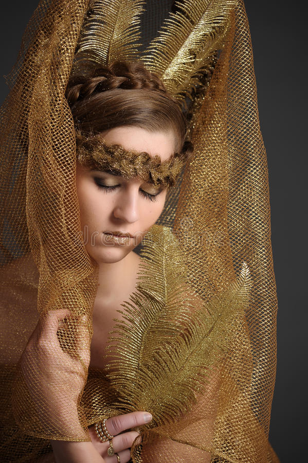 Χρυσή νεράιδα πριγκηπισσών στοκ φωτογραφία