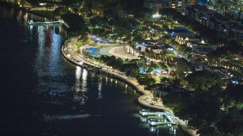 χρυσή νύχτα ζωής ακτών στοκ φωτογραφίες με δικαίωμα ελεύθερης χρήσης