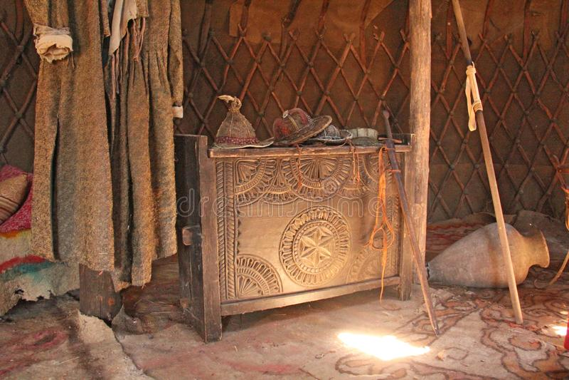 Χρυσή ορδή Ταινία Saray Batu, Ρωσία, περιοχή του Αστραχάν στοκ εικόνα με δικαίωμα ελεύθερης χρήσης