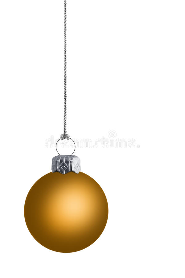 χρυσή πεδιάδα cristmas μπιχλιμπι&del στοκ εικόνες