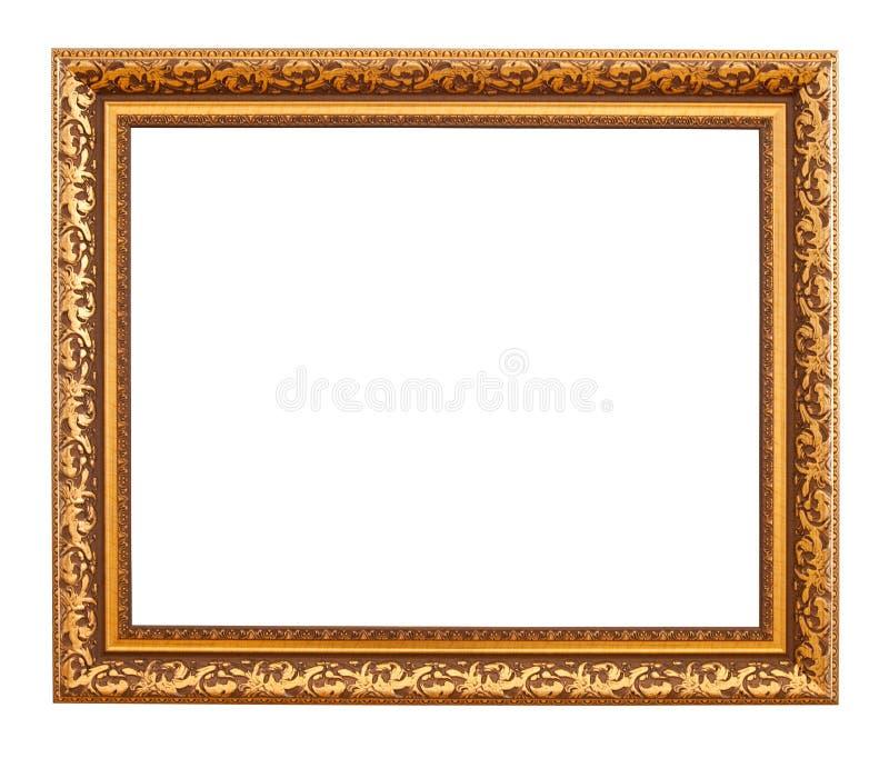 χρυσή πολυτέλεια πλαισί&o στοκ εικόνες